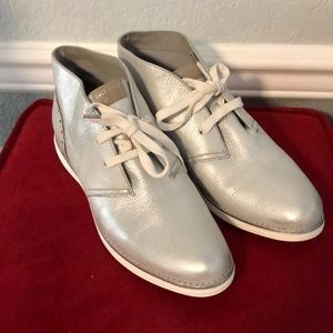 Cole Haan Grand Os silver shoes